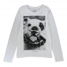 T-shirt Dog ML Blanc