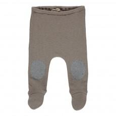 Pantalon Pieds Genouillères Grège