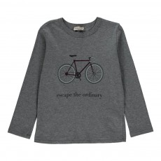 T-Shirt Bicyclette Gris chiné