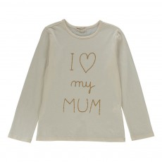 "T-Shirt ""I Love My Mum"" Ecru"