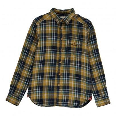 chemise slim fit carreaux chip ocre bellerose mode ado gar on smallable. Black Bedroom Furniture Sets. Home Design Ideas