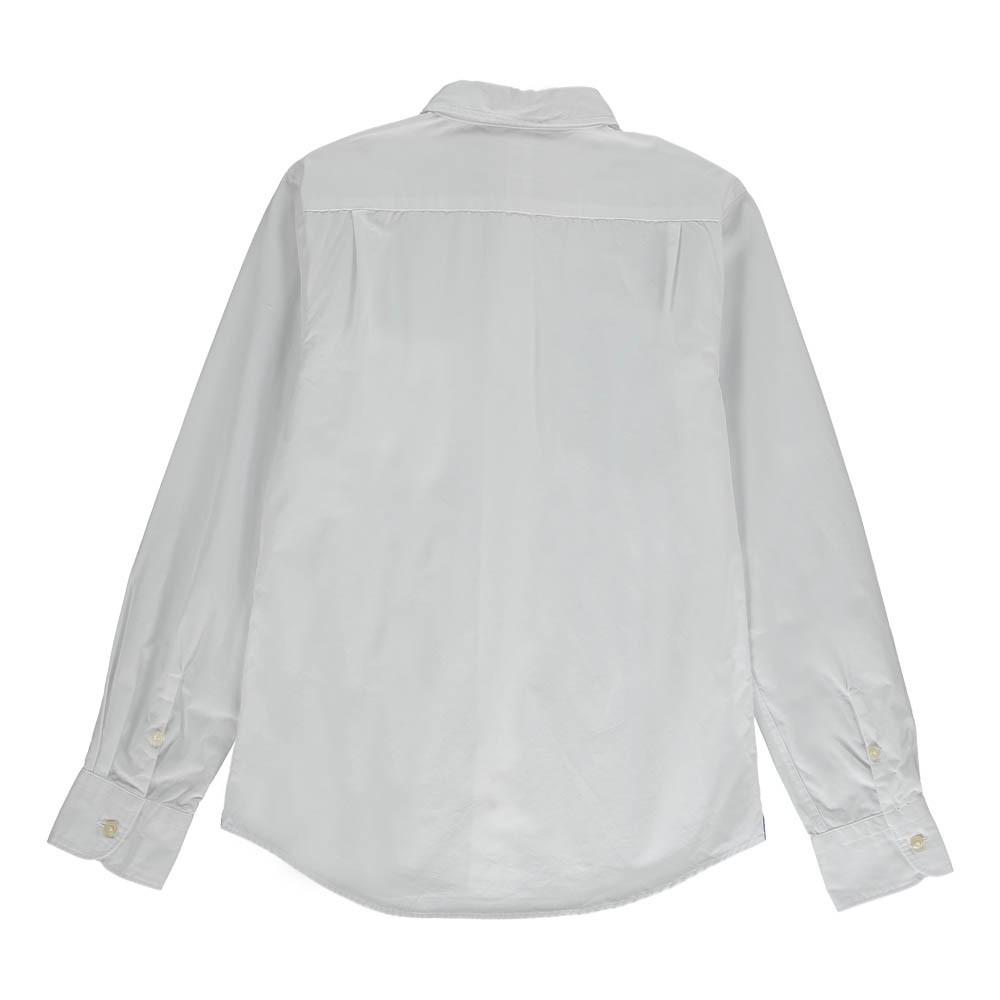 chemise slim fit ganix blanc bellerose mode ado gar on smallable. Black Bedroom Furniture Sets. Home Design Ideas