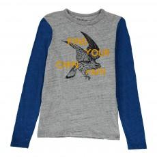 T-Shirt Bi-Colore Aigle Calf Gris clair