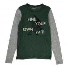 T-Shirt Bi-Colore Aigle Calf Vert foncé
