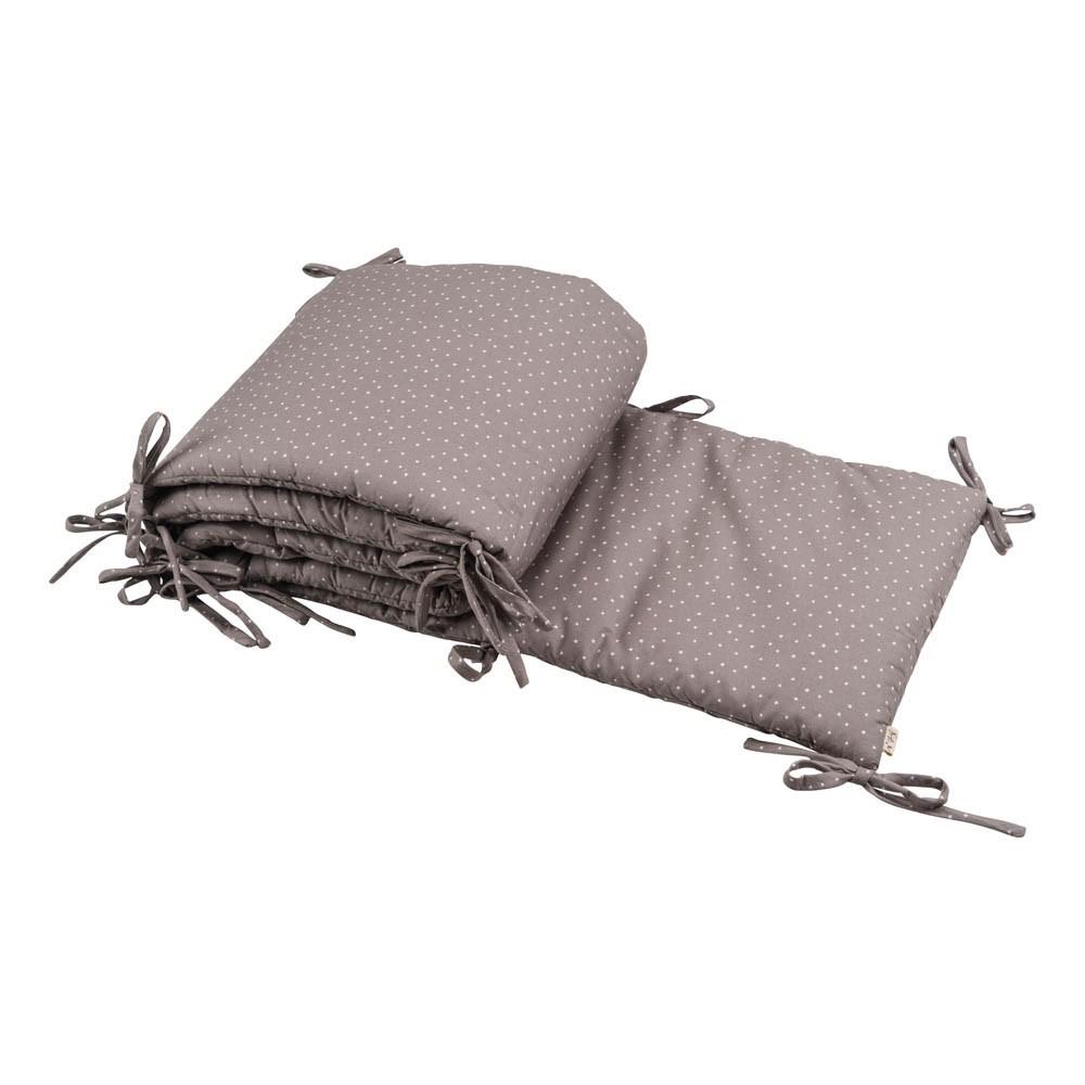 tour de lit gris et toiles blanches numero 74 univers b b smallable. Black Bedroom Furniture Sets. Home Design Ideas