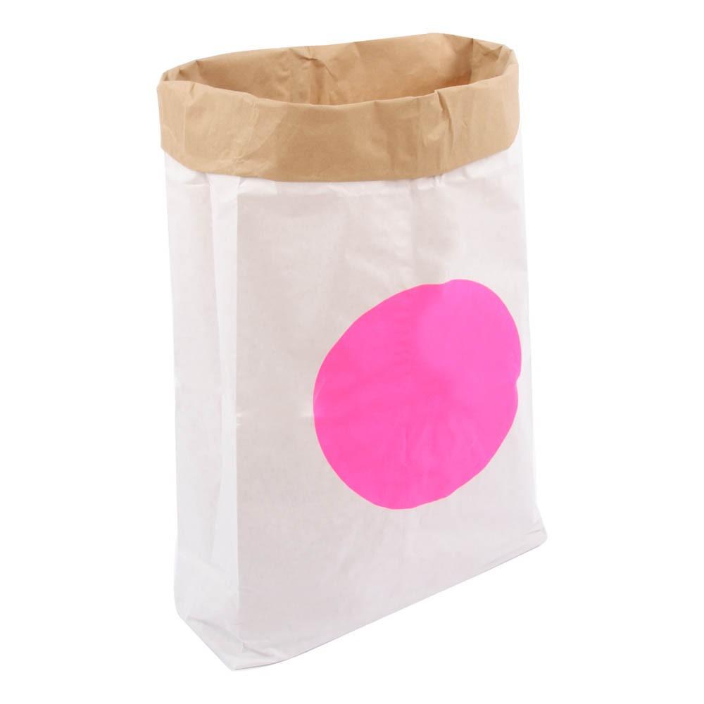 sac de rangement kolor pois rose fluo adonde d coration. Black Bedroom Furniture Sets. Home Design Ideas