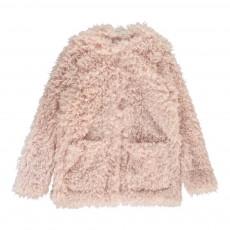 Manteau Façon Fourrrure Sparkles Rose pâle