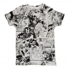 T-shirt Marvel Blanc