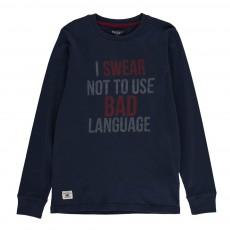T-shirt I Swear ML Bleu marine