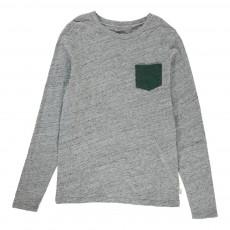 T-Shirt Poche Casto Gris chiné