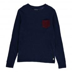 T-Shirt Poche Casto Bleu chiné