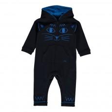 Combinaison Molleton Chat Bleu nuit