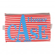 Rangement House Case Stripes - Rouge