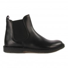 Boots Chelsea en Cuir Noir