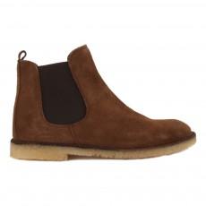 Boots Chelsea en Cuir Marron
