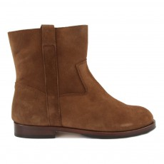 Bottines Cuir Suede Marron