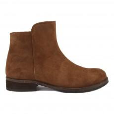 Boots Cuir Suede Marron