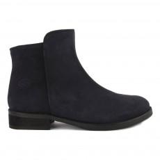 Boots Cuir Suede Bleu nuit