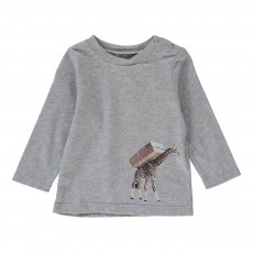 T-shirt Giraffa Gris chiné