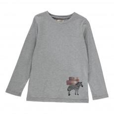 T-shirt Zebra Gris chiné