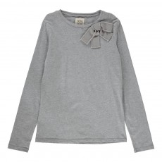 Blouse Noeud Cornelly Gris chiné