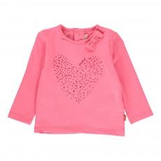 T-shirt Cœur Nœuds Rose fluo