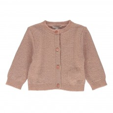 Cardigan Lurex Rose pâle