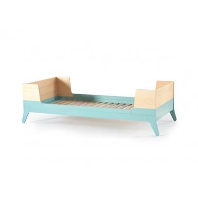 Lit 1 personne 90x200 cm vert d 39 eau nobodinoz mobilier smallable - Lit 1 personne 90x200 ...