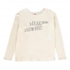 T-Shirt Oversize Stay Wild Beige