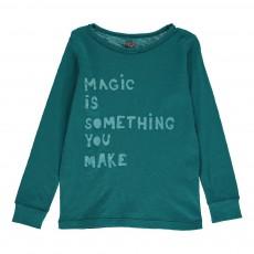 T-Shirt Manches Longues Magic Bleu pétrole