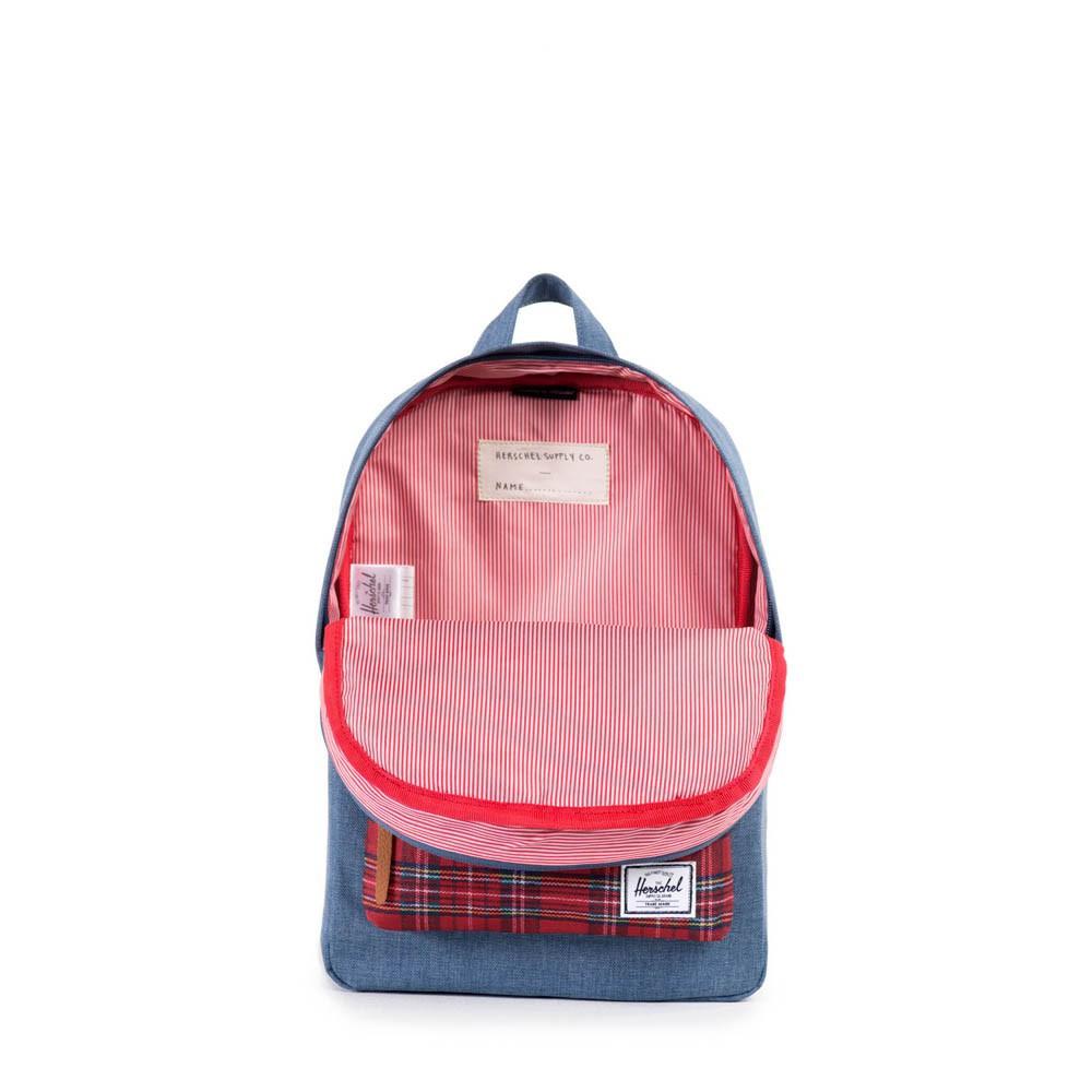 sac dos heritage kids plaid bleu marine herschel mode enfant smallable. Black Bedroom Furniture Sets. Home Design Ideas