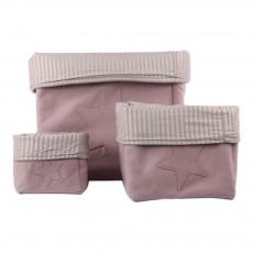 Boîte de rangement Etoile piquée - Beige rosé