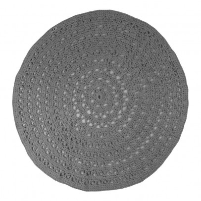 tapis rond crochet gris naco d coration smallable. Black Bedroom Furniture Sets. Home Design Ideas