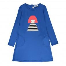 Robe Poupée Rousse Bleu