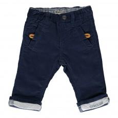 Pantalon Velours Doublé Bleu marine