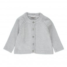Cardigan Maille Gris clair