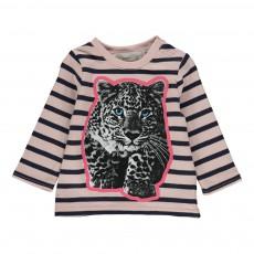 T-shirt Rayé Tigre Ted Rose pâle