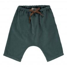 Pantalon Velours Souple Bébé Bleu Vert
