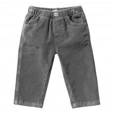 Pantalon Velours Gris