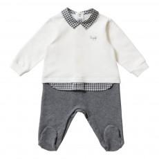 Pyjama Chemise Intégrée Blanc cassé