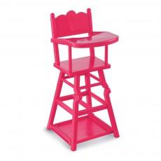 Chaise haute Poupée Cerise Rose