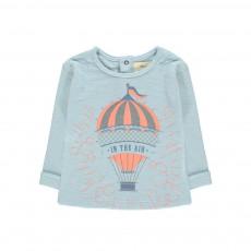 T-Shirt Montgolfière Dessine-Moi Bleu gris