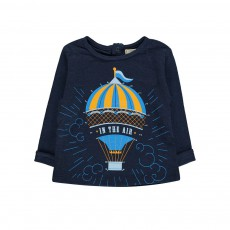 T-Shirt Montgolfière Dessine-Moi Bleu marine