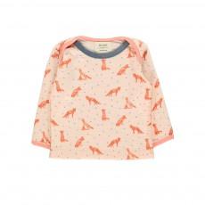 T-Shirt Loups De Bon Poil Rose pâle