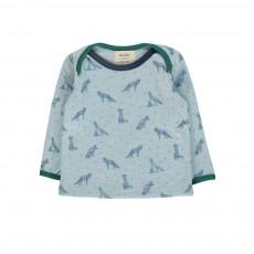 T-Shirt Loups De Bon Poil Bleu gris