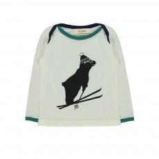 T-Shirt Ours Ski Tout Schuss Blanc