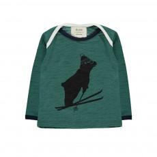 T-Shirt Ours Ski Tout Schuss Vert foncé