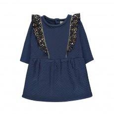 Robe Matelassée Belle Plante Bleu
