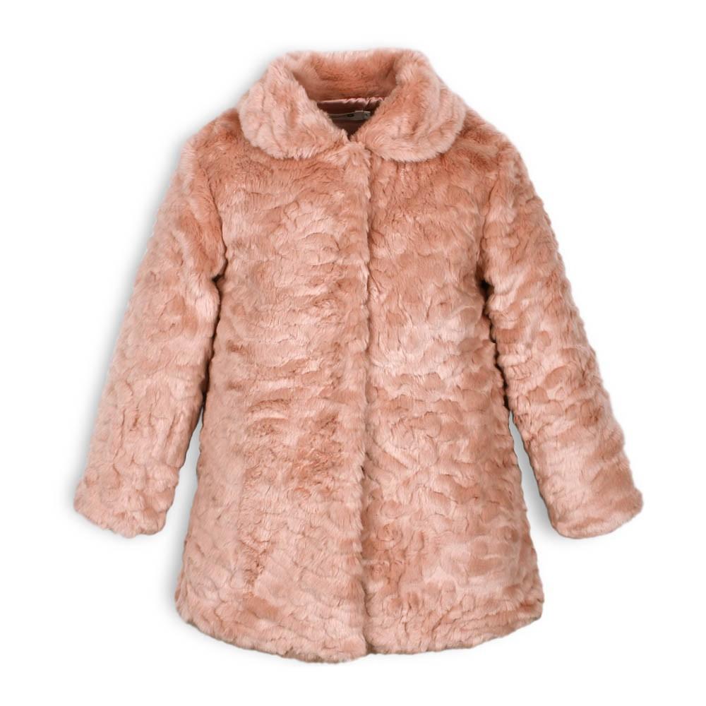 manteau fa on fourrure olga rose troizenfants mode enfant smallable. Black Bedroom Furniture Sets. Home Design Ideas