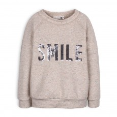 Sweat Smile Chiné Gina Gris clair